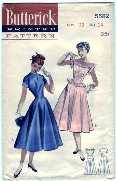 Vintage 1951 Butterick 5582 Sewing Pattern by SewUniqueClassique, $20.00