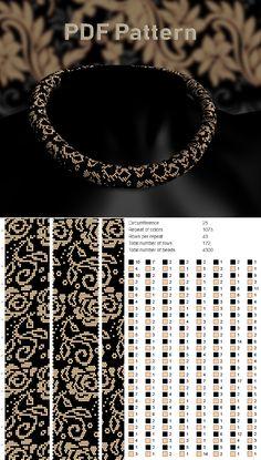 Beading pattern and tutorials, Bead crochet pattern