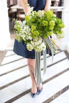 Green-White-Navy-Bridal-Shower-Flowers