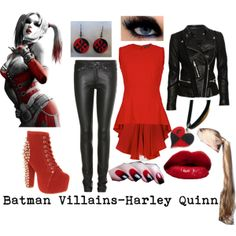 """Batman Villains-Harley Quinn"" by xmelissathomasx on Polyvore"