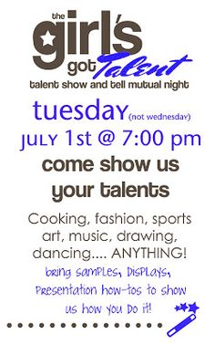 A Bushel and a Peck of FUN: Talent Show and Tell Mutual Activity