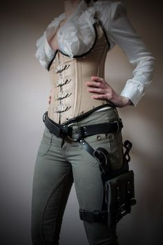 Unisex Thigh Holster Bag - Black, Green Canvas - steampunk - festival - burning man, Please read Description for size