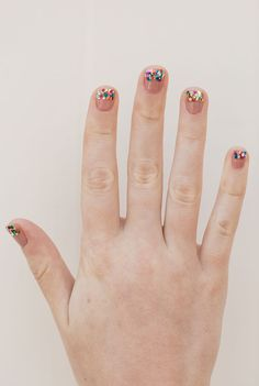 Simple glitter tipped mani tutorial on LaurenConrad.com