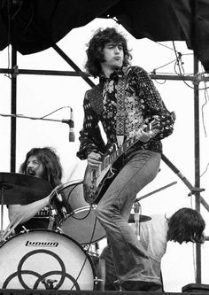 John Bonham and Jimmy Page of Led Zeppelin - Sydney Show Grounds - Rock N Roll, Rock And Roll Bands, Jimmy Page, Jimmy Jimmy, Robert Plant, Led Zeppelin, Great Bands, Cool Bands, John Paul Jones
