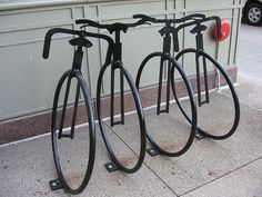 bike racks on Michigan Ave. by libbyrosof, via Flickr