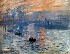 Claude Monet           Impression Sunrise           Painting