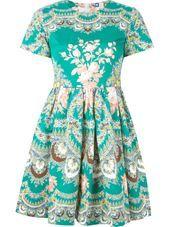 MSGM - floral print flared dress #genteroma