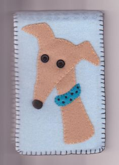 95bf5a77e70 Greyhound or Whippet Dog Needlecase Fawn. Inspiration for a card