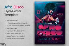 Afro Disco Flyer Template | The Hungry JPEG