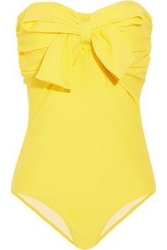 Miu Miu Yellow Bow Swimsuit
