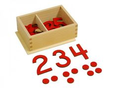 Cut-Out Numeral and Counters (USA Print) | Kid-ease