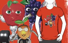 Valxart FUDEBOTS ApricotBot,BerryBot and AppleBot by Valxart on many styles of shirts and stickers on REDBUBBLE.COM/valxart