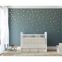 Gold Stars Wall Decals Pack Peel and Stick Confetti Wall Decals... ❤ liked on Polyvore featuring home, home decor, wall art, peel and stick wall art, metallic wall decals, gold star wall decals, metallic wall stickers and photo wall decals