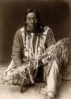 a piegan Indian with his Medecine Pipe It was made in 1910 by…