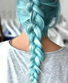 Pastel blue hair #BlueHair #HairChalk #Blue