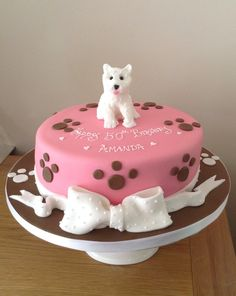 Westie dog lovers cake