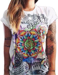 Aktiv Frauen Kleidung 2016 Mode Frauen Kurzarm Print T-shirt Frauen T-shirts Rock-shirt Frauen Besser Camisetas Y Tops Gepäck & Taschen