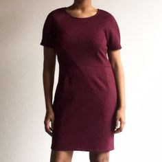 "⚜ Burgundy ""V"" Dress Super cute with ""v"" shape in front, and small pleats! 💋 Happy Poshing! (x trade) To Seventeen Dresses"