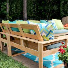 Outdoor Couch, Diy Outdoor Furniture, Outdoor Seating, Diy Furniture, Outdoor Decor, Outdoor Ideas, Outdoor Projects, Outdoor Living, Outdoor Sectionals