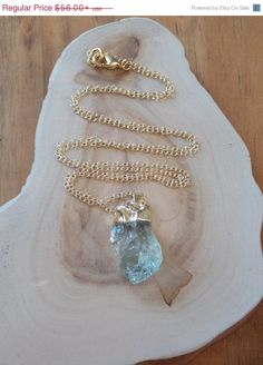 Raw Rough Green Amethyst Pendant Necklace on a by MalieCreations