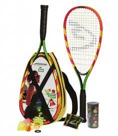 Speedminton Set - Original Speed Badminton / Crossminton Starter Set including 2 rackets, 3 S Best Badminton Racket, Tennis Racket, Badminton Birdie, Backyard Games, Outdoor Games, Lawn Games, Beach Games For Adults, Tennis Nets, Yellow