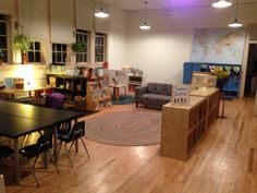 Reggio kindergarten classroom   Our PlayHouse Preschool and Kindergarten, Chapel Hill, NC  www.ourplayhousepreschool.com