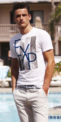 Simon Nessman Goes Poolside for Express Summer 2012
