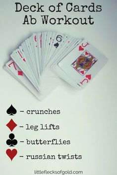 Deck of Cards Ab Workout