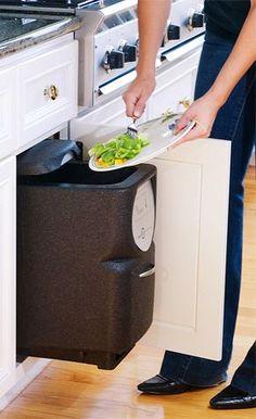 In-cabinet compost bin
