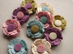 Wollfilz Blume  Cottage Blüten  dimensionale von AMarketCollection