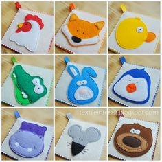 "Pics only ~ textileinterior: Rainbow Card ""Animals"" brilliant little colour cards for children"