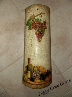 Decoupage on an old mediterranean roof tile by https://www.facebook.com/FizzyCreations