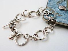silver bracelet by Rebecca Geoffrey, via Flickr