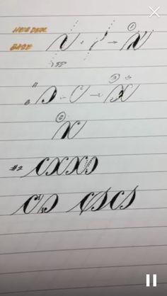 Calligraphy Worksheet, Brush Pen Calligraphy, Calligraphy Tutorial, Copperplate Calligraphy, Calligraphy Handwriting, Calligraphy Letters, Penmanship, Brush Lettering, Caligraphy