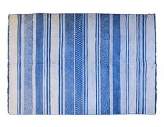 6 x 9 Flatweave Rug with Blue and White Stripes | The Local Vault