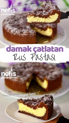 Damak Çatlatan Rus Pastası – Nefis Yemek Tarifleri How to make Recipe Russian Cake Recipe? Here is a description of this recipe in the book of people and photographs of the experimenters. Cheesecake Recipes, Dessert Recipes, White Russian Recipes, Russian Cakes, Flaky Pastry, Mince Pies, Fruit Kabobs, Cheesecakes, Food Cakes