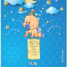 $31.00 - 0.5 GRAM BABY BOY'S FIRST CHRISTMAS 999.9 24 KARAT GOLD BULLION BAR & LBMA CERTIFICATE from @GoldAngels  Immediate delivery #GoldBullion #BabysFirstChristmas #GoldGift #Boy
