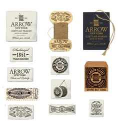 Arrow/ Cluett Labels and Packaging on Behance