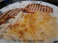 No soy un blog de cocina: COLIFLOR AL HORNO, CON BECHAMEL