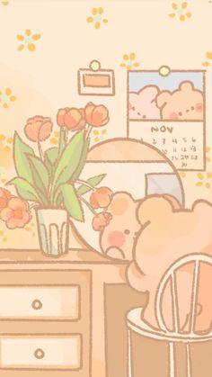 Cocoppa Wallpaper, Wallpaper Computer, Cute Wallpaper For Phone, Soft Wallpaper, Bear Wallpaper, Cute Anime Wallpaper, Cute Pastel Wallpaper, Cute Patterns Wallpaper, Aesthetic Pastel Wallpaper