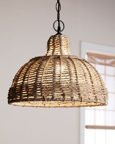 Jute-Shade Pendant Light by Jamie Young at Horchow. Just what I'm looking for!