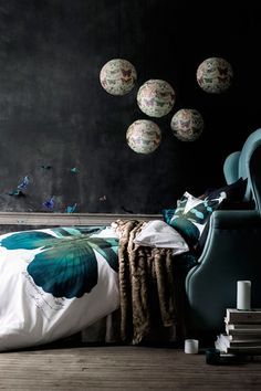 After Dark - wow.  Not sure I would ever go here in a room I decorate but I do love the moodiness of this SO MUCH