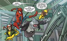 Spider-Man and the X-Men #3 (2015)  written by Elliott Kalan art by Marco Failla & Ian herring