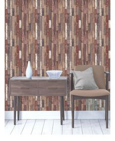 This fantastically realistic Wood Planks Wallpaper will make a great feature in any room! The design is based on a rustic reclaimed wood effect in varying shades of brown and is printed on to luxury paper to ensure durability and a quality finish Wood Effect Wallpaper, Wood Plank Wallpaper, Feature Wallpaper, Of Wallpaper, Wood Parquet, Wood Planks, Brown Room Decor, Reclaimed Wood Wallpaper, Brick And Wood