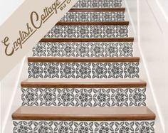 Trap Decals. Engelse Cottage Vinyl trap stappen decoratie Stickers. Uw keuze van kleur en hoeveelheid