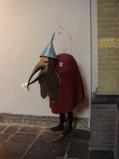 hieronymus bosch ... costume? life sized statue of a figure from a painting??