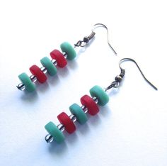 Glass Stacks Earrings with Recycled Glass