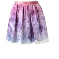OPENING CEREMONY 'Sunset glacier' Printed Silk Skirt (1.665 RON) ❤ liked on Polyvore featuring skirts, bottoms, saias, faldas, multi, opening ceremony, silk skirt, opening ceremony skirt and purple skirt