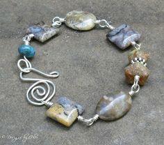 wire wrapped stone bracelet   Wire Jewelry Making