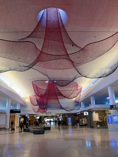 I love that this is public artwork in an airport terminal! so pretty!